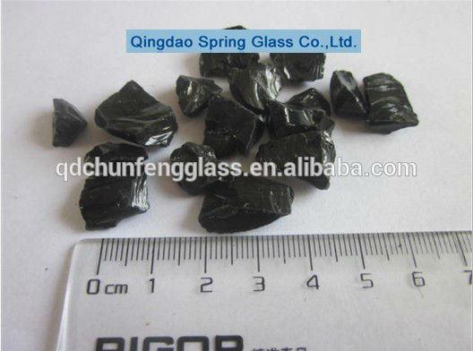Little Size Black Glass Rocks