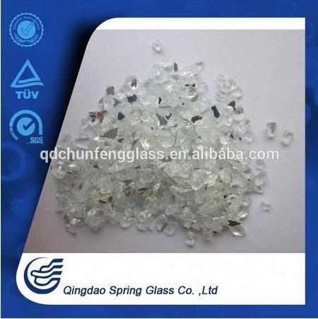 Crushed Light-Grey Mirror Grits for Construction