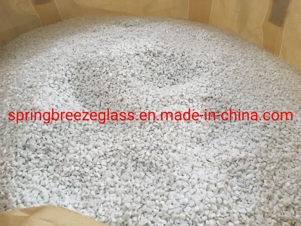 Crushed White Glass Chips for Quartz Surfaces Used in Kitchen Countertops