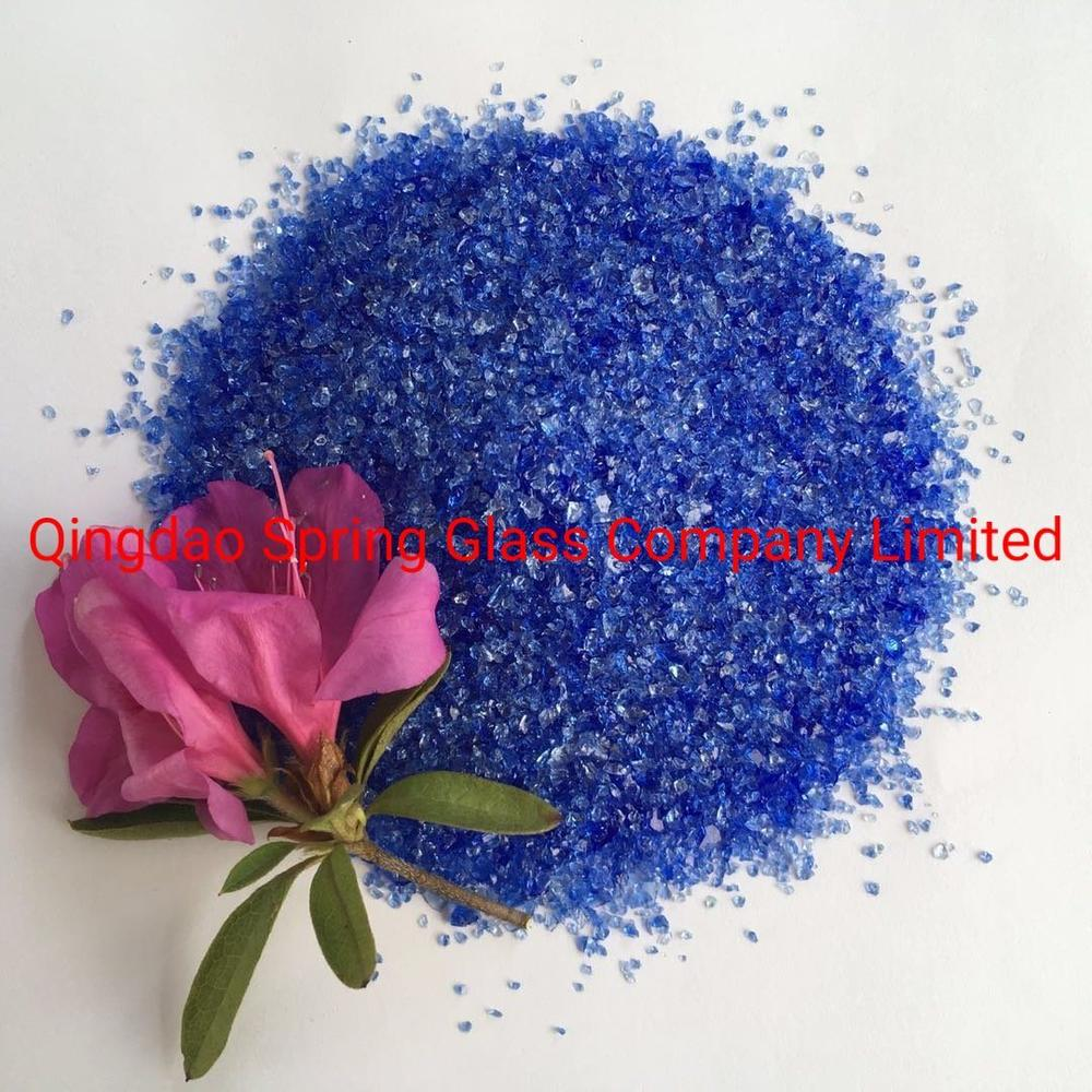 Cobalt Blue Glass Grit for Making Terrazzo and Artificial Marble Slabs