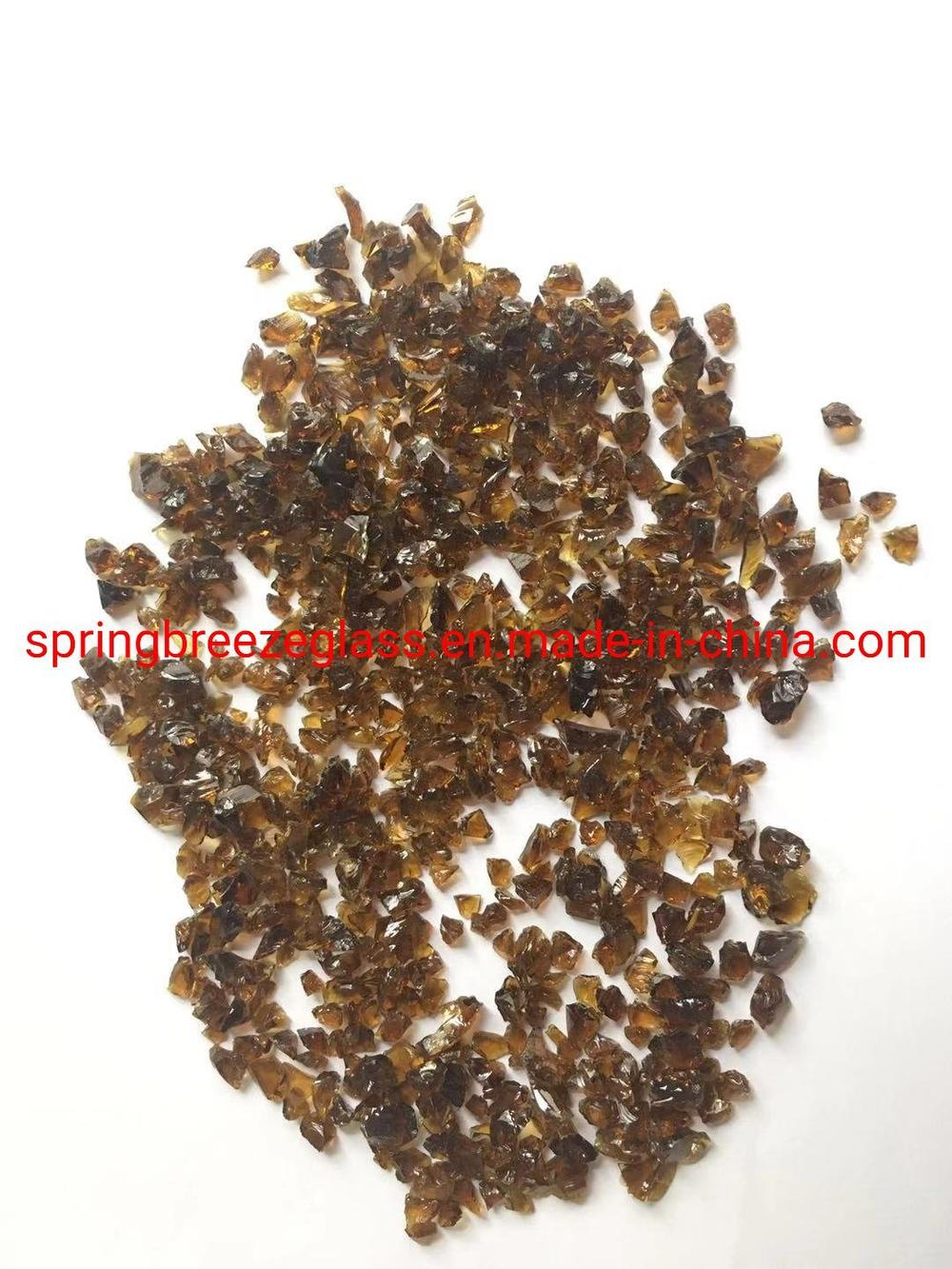 Amber Crushed Glass for Quartz Surface Slabs Used in Vanity Top