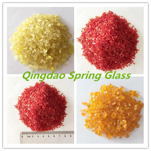 Bright Color Glass Sands From China