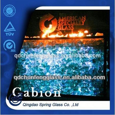 2015 New Decorative Fire Pit Glass
