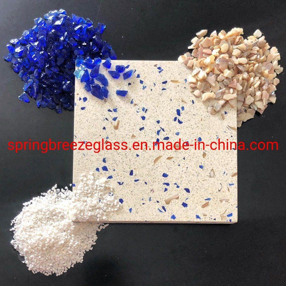 Crushed White Glass Chips for Making Terrazzo and Kitchen Countertops