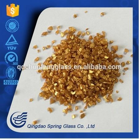 Light Yellow Glass Powder Used for Decoration
