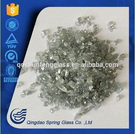 Light Gray Glass Powder Used for Decoration