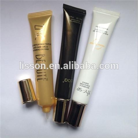High-end looking empty tube for eye serum Soft plastic tube 15ml cosmetic packaging