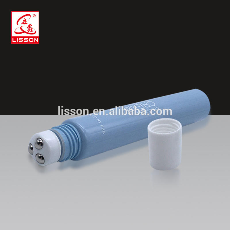 Roller Massage PE Plastic Tube With Transparent Screw Cap