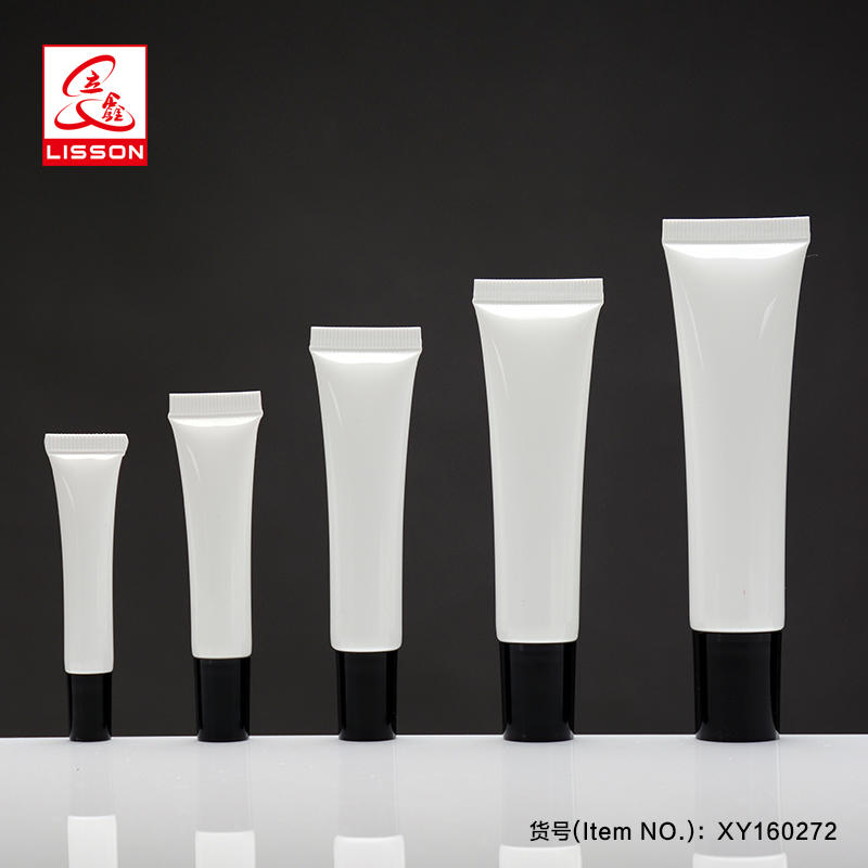 Round Anti-Wrinkle Plastic skin care eye cream Tube Packaging With Metallized Cosmetic Cap