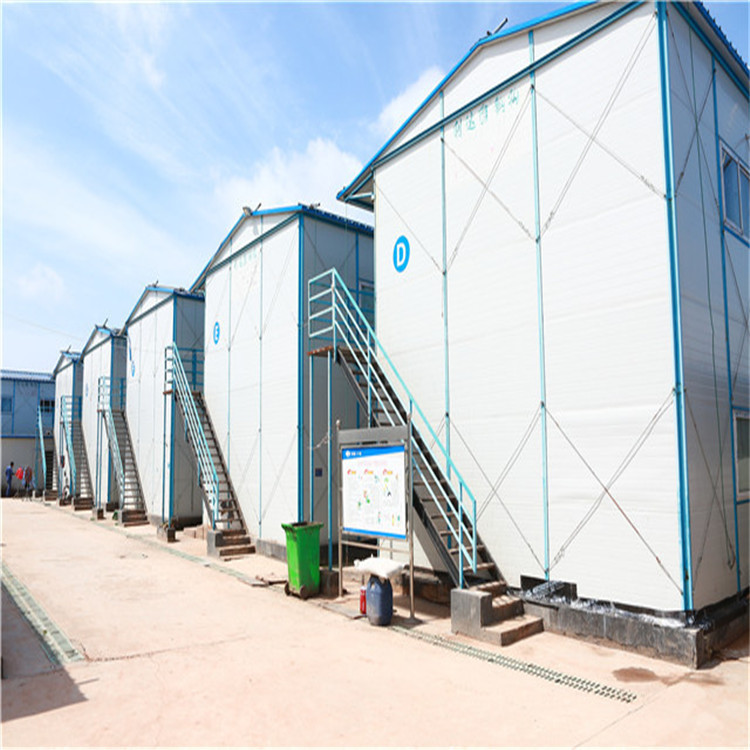 Steel Structure Prefabricated House for Temporary Staff Labor Camp