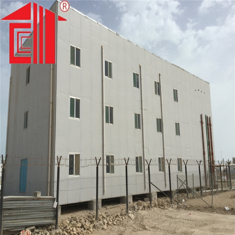 G+2 floor prefab house worker accommodation