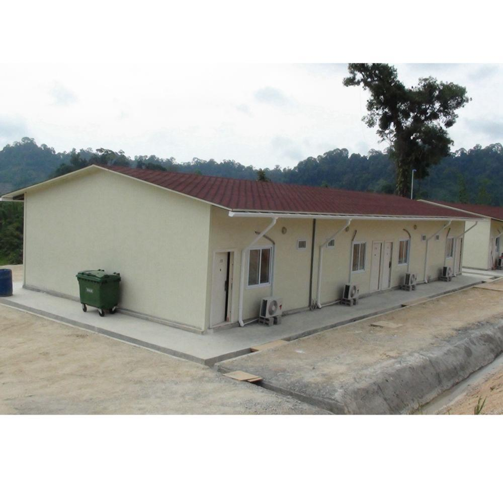 Nigeria site prefab house labor camp for TCF Staff accommodation building