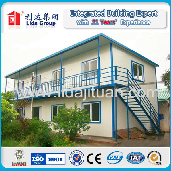Manufacture prefab holiday house of double storey prefab house in philippines from Manufacturer Supplier