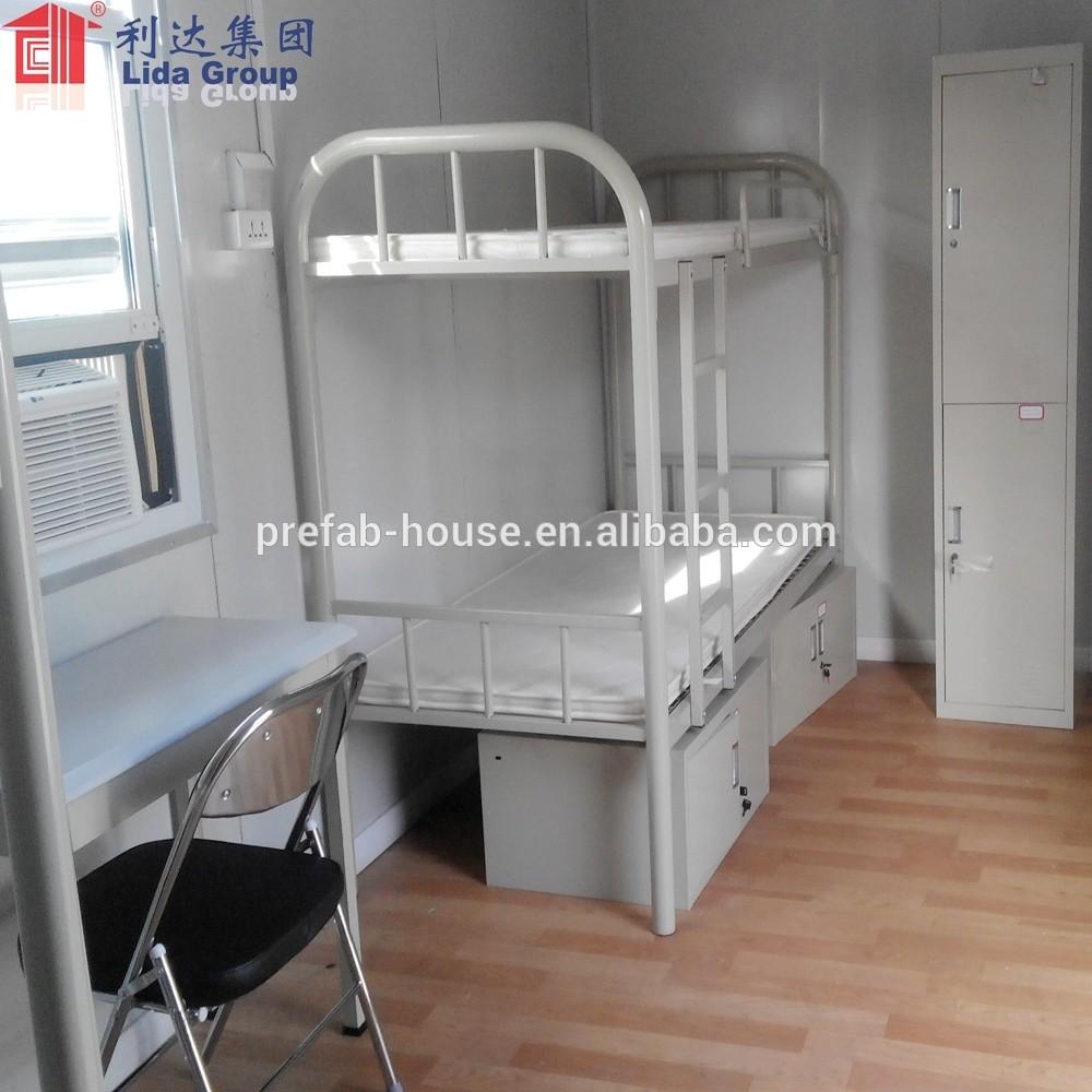 prefab house luxury single floor double floor worker camp