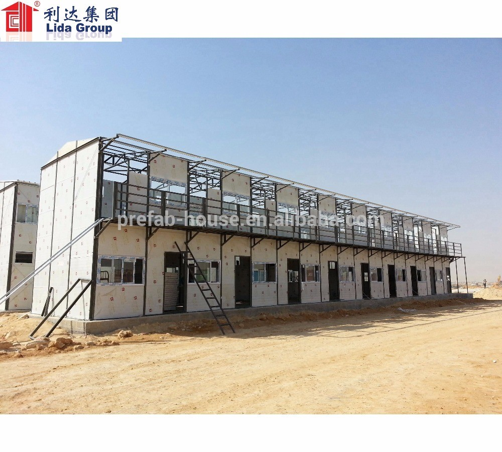 prefabricated House Workers dormitory labor camp in Nigeria