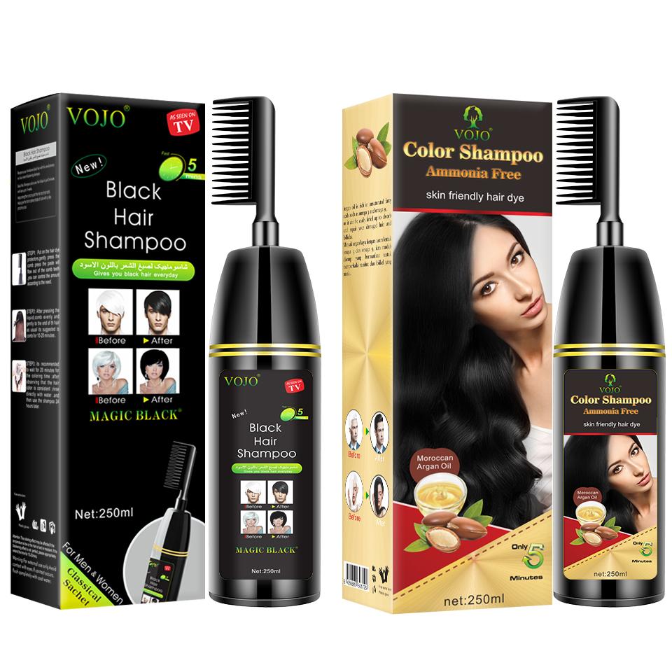 Non-ammonia yosaten hair dye shampoo long lasting free ppd for grey hair