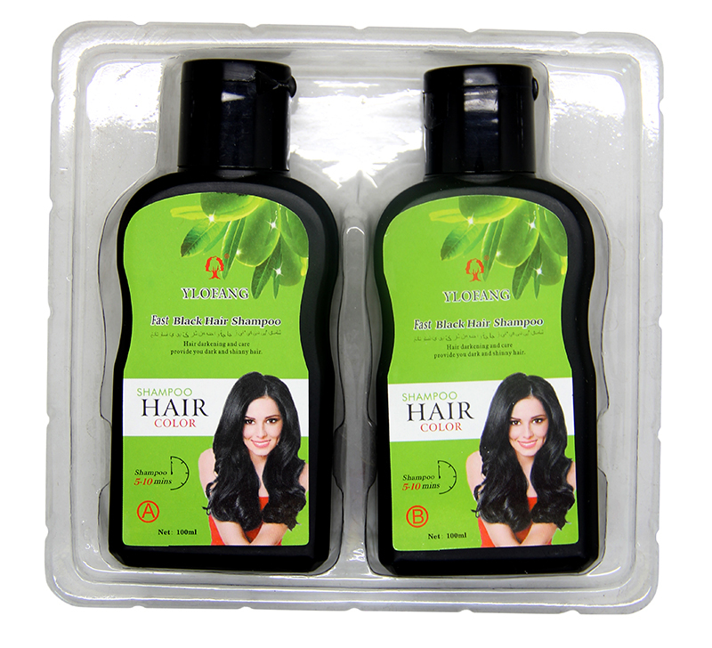 Guangzhou Yosaten Wholesale 100ml*100ml Fast Black Hair Color Shampoo for men andwomen