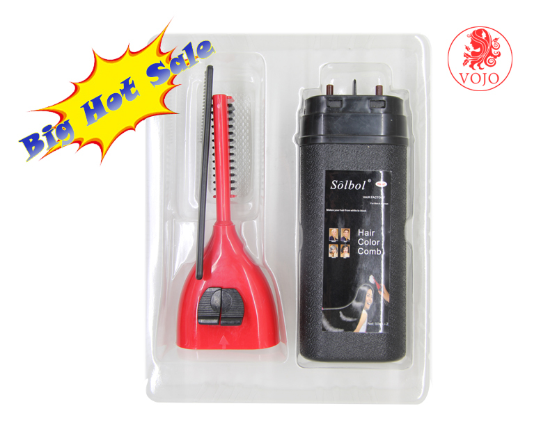 solbol brand hair color combs shampoo fordye hairtemporary hair color combs in home use