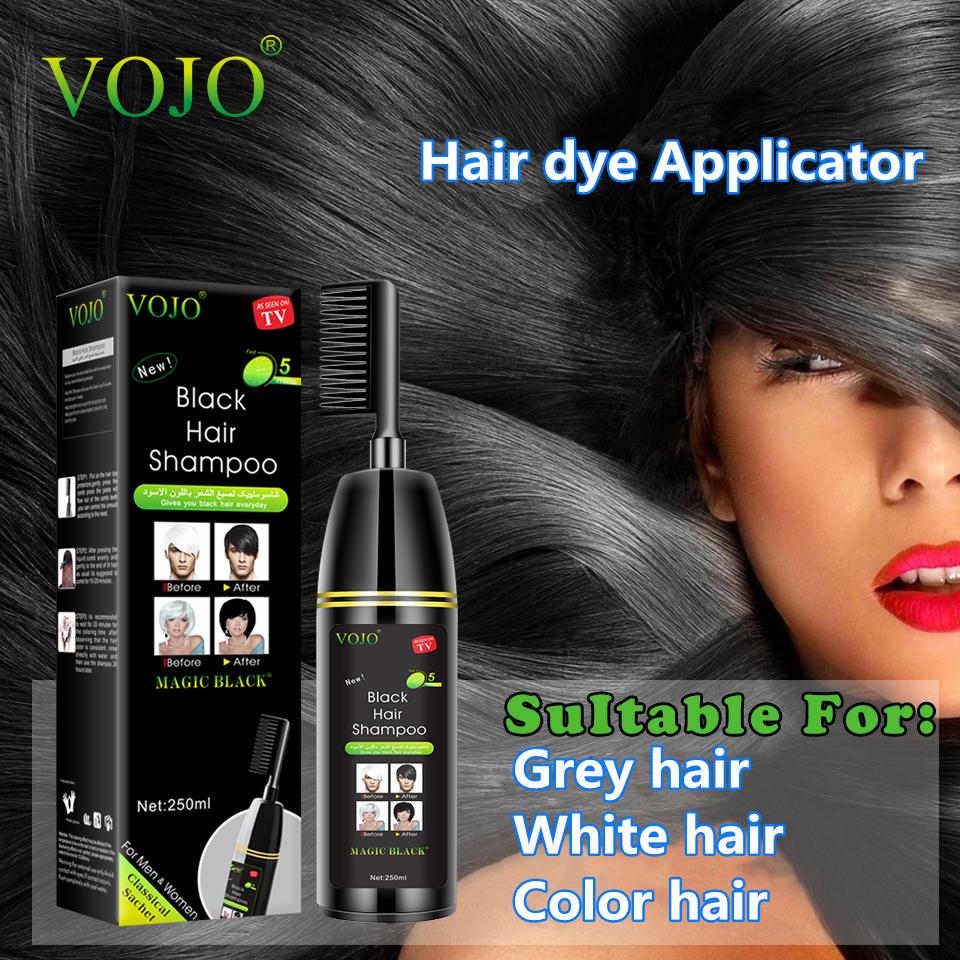 Black Hair Shampoo -Instant Shampoo Black Hair Dye Maintain Hair Color for 20 days