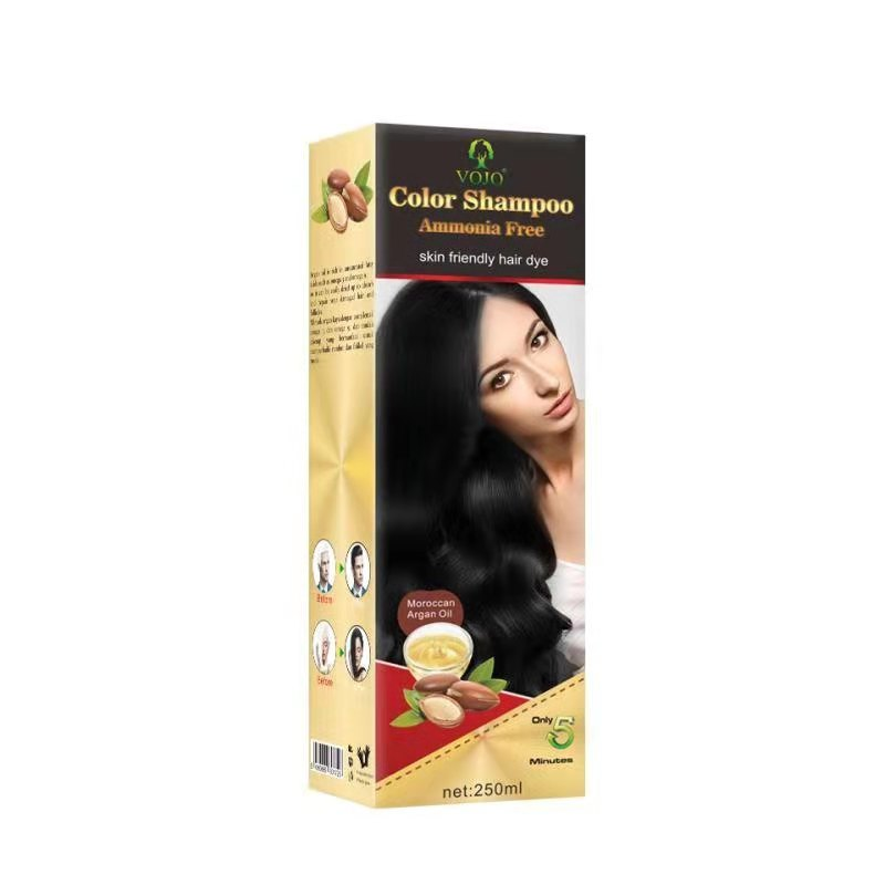 2021 hot sale quick dye hair in 5 minutes no ammonia no allergy hair darkening shampoo private label oem odm