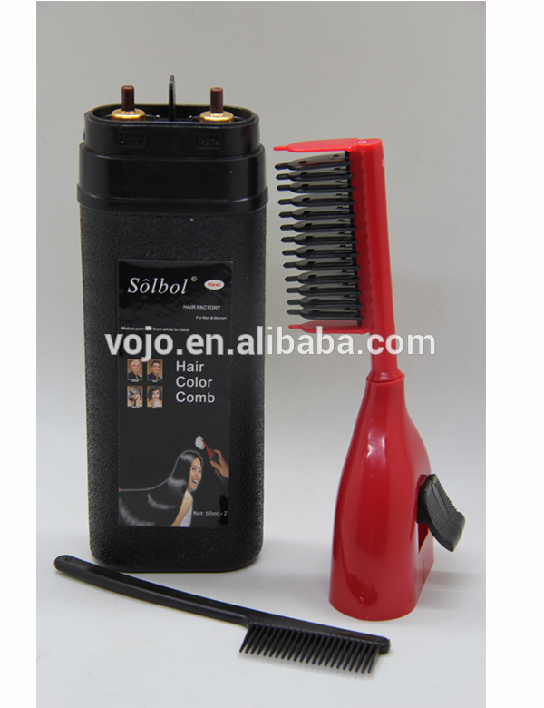 Hair Color Tricks for Dyeing Your Hair at Home with a wash magic hair color comb solbol brand from China