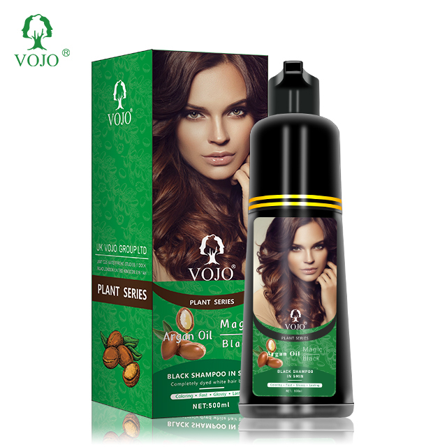Magic 5 colors dye nature argan plant extract fashion color 500ml capacity hairshampoo