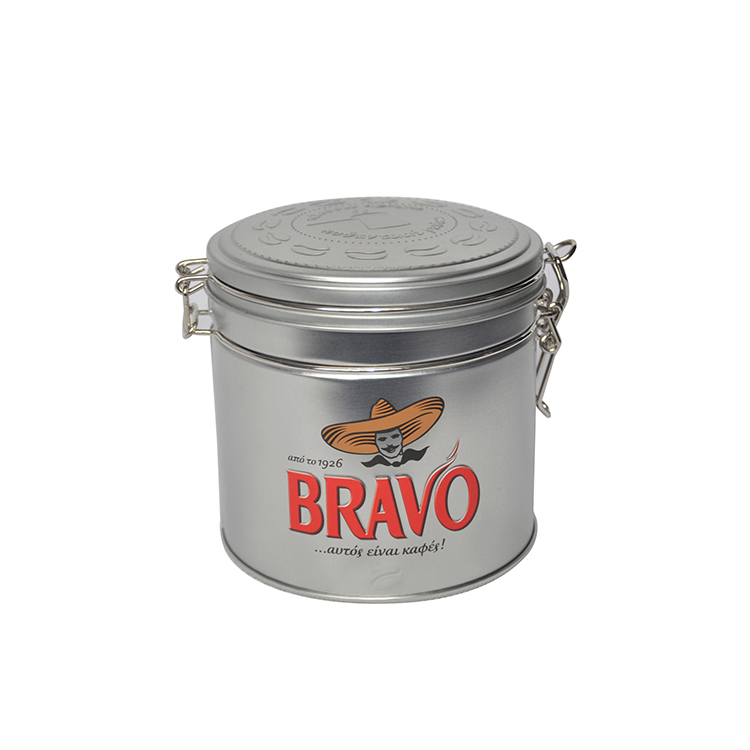 Food grade cookie tin box candy container with airtight lid