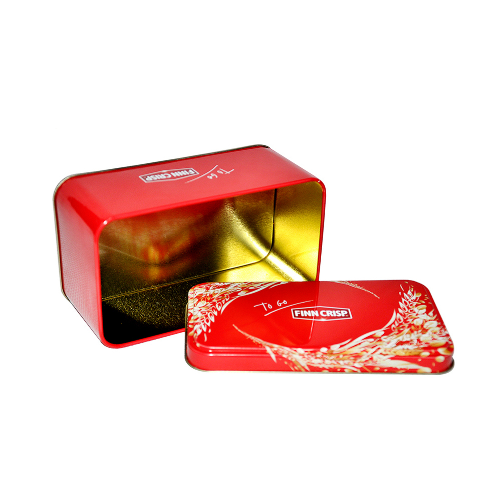 Bodenda metal rectangular cookie tin packagingjars tea tin box with food grade material tinplate