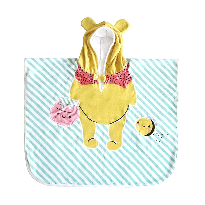 100% Cotton Animal cartoon design baby kids hooded bath towel
