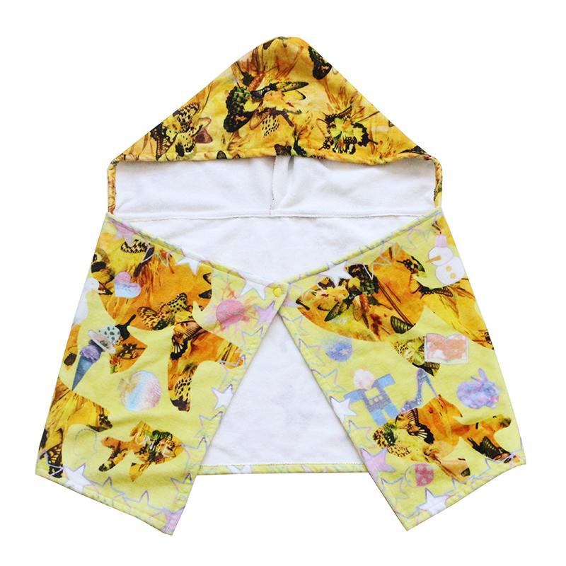 artistic sense 100% cotton customdigital printingbaby hoodedtowel for kids