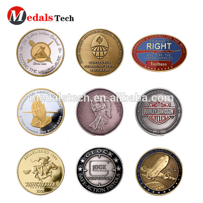 Wholesale fashion color filled soft enamel Ancient Rome and Egypt metal challenge coins