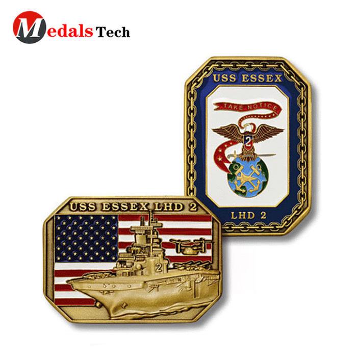 No minimum order custom usa flag event military challenge coins
