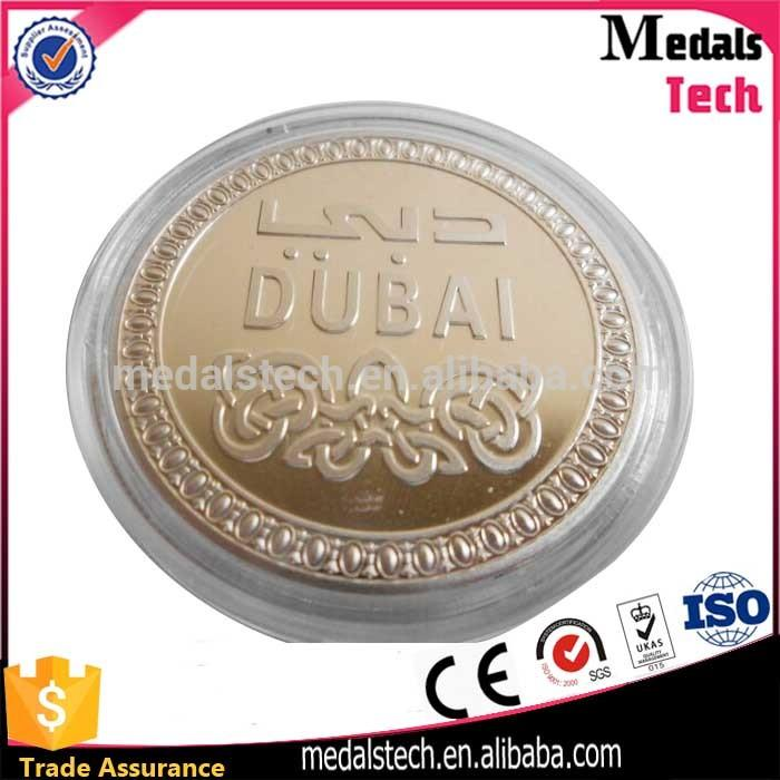 New Discount Rose Gold Dubai Coin With Transparent Acrylic Box