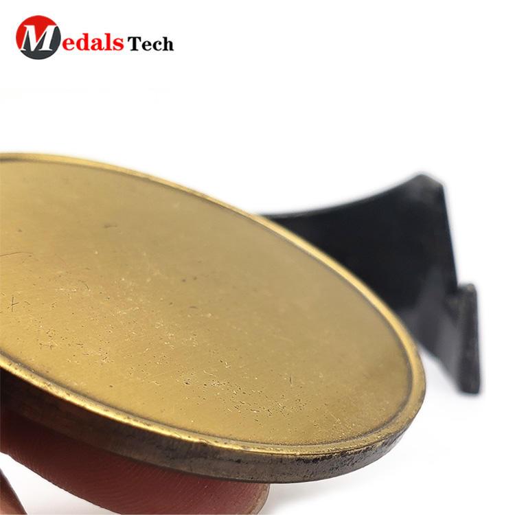 Cheap school old gold custom logo metal sport challenge coins