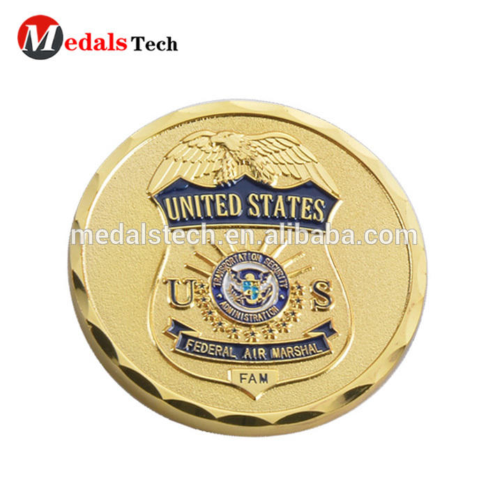 Factory Direct Supply antique copper 3d embossed wings logo gold eagle replica coins