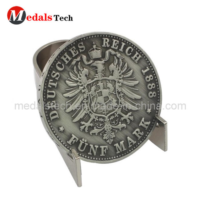 Custom new style engraved silver metal rare coins for souvenir