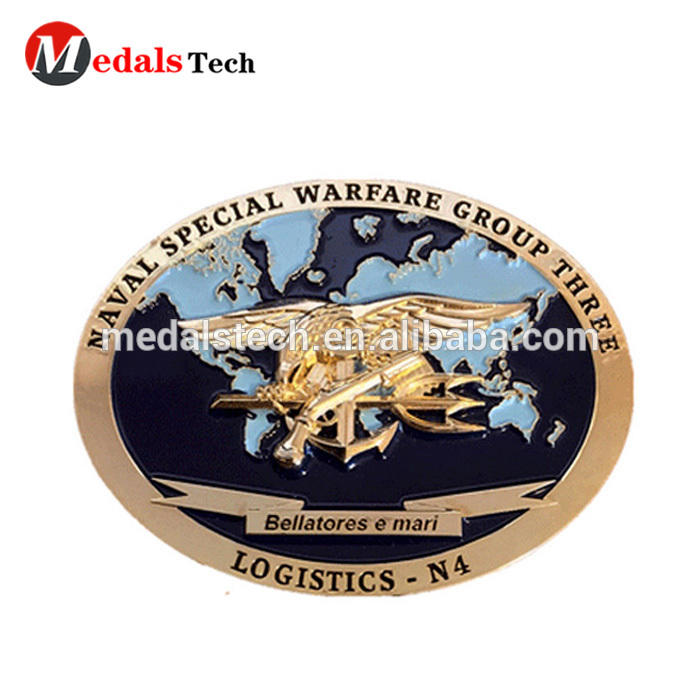 8 years manufacture experience customized single custom challenge coins