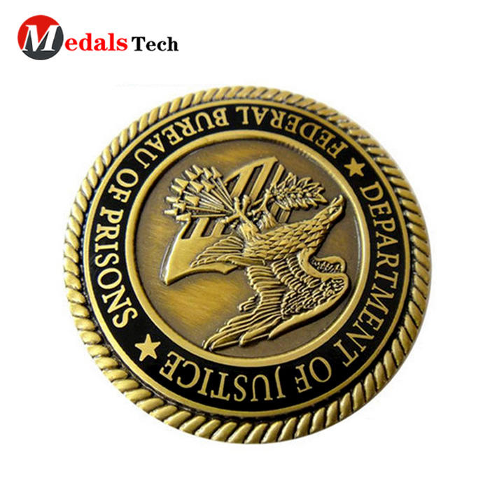 Customized ancient india event antique gold sport challenge coin