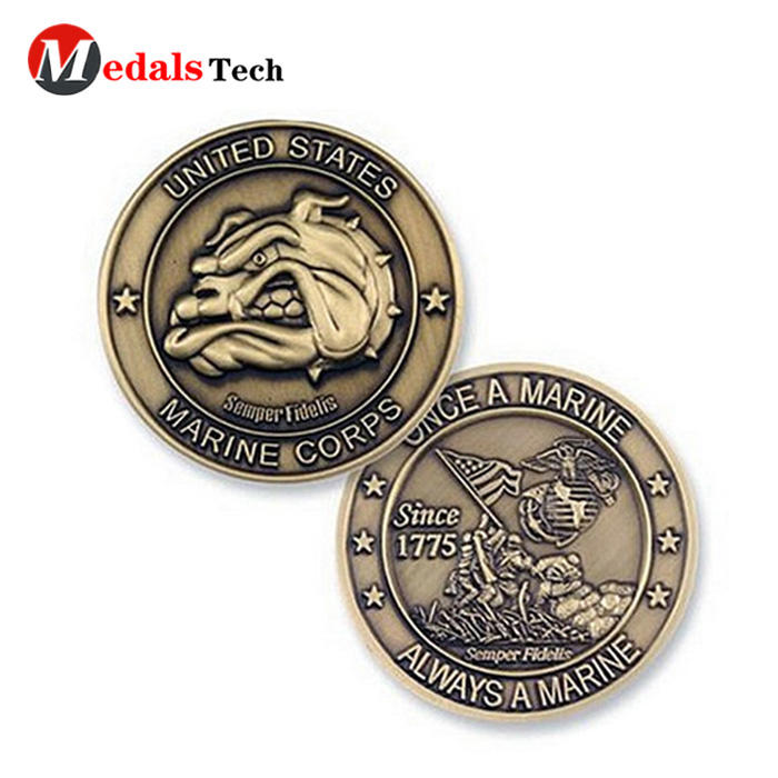 No minimum order color fillednational flag security challenge coins