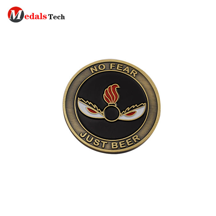 High quality custom sexy girl logo single souvenir challenge coins