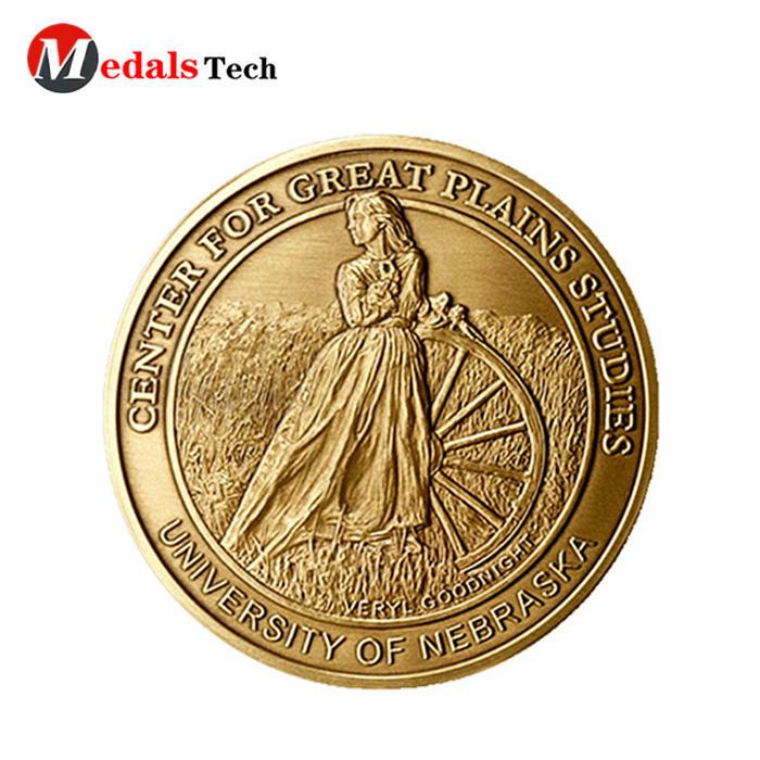 High quality custom skulls metal gold double sideschallenge coins