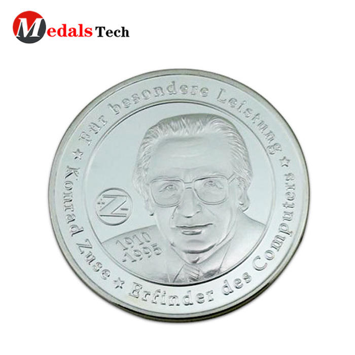 Cheap custom aluminum metal 2 euro challenge coins