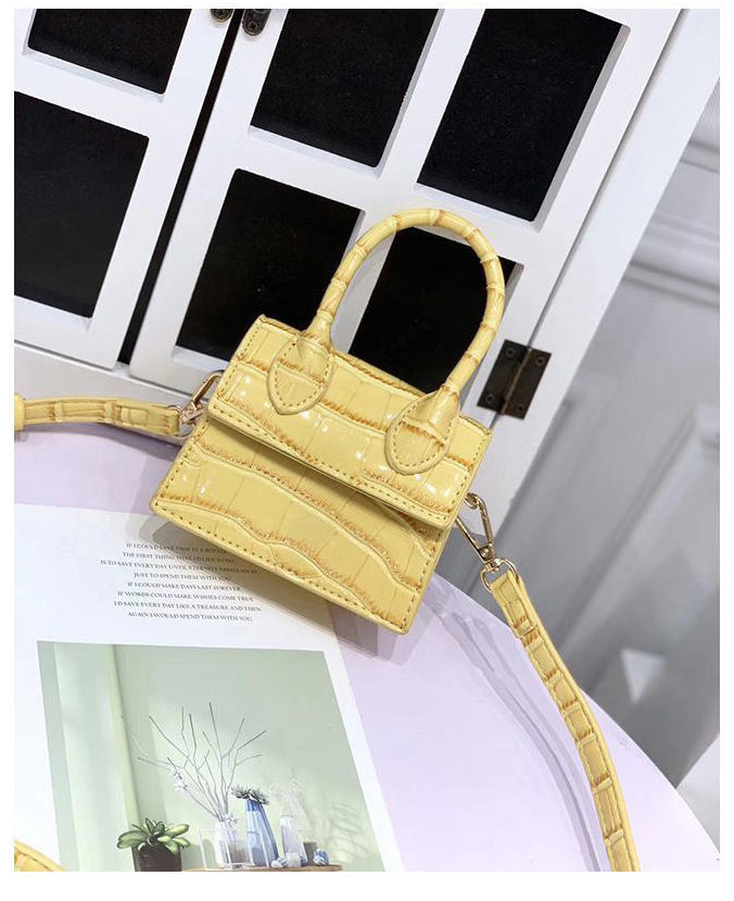 2020 Newest Fashion High Quality Leather Women's Handbag Crocodile Pattern Chain Shoulder Messenger Bags
