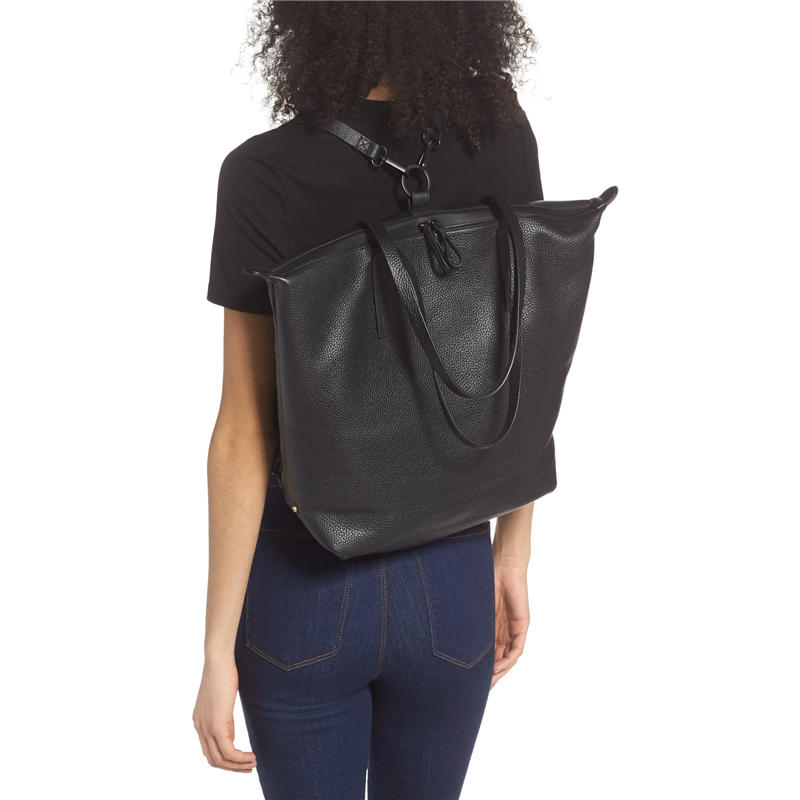 Female anti-theft backpack classic PU leather solid color backpack canta fashion shoulder bag 2020