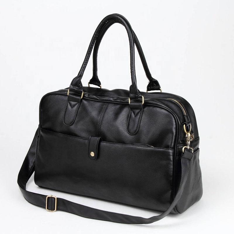 Waterproof PU leather handbags large capacity zipper hand bags for man Business Casual designers tote bag wholesale