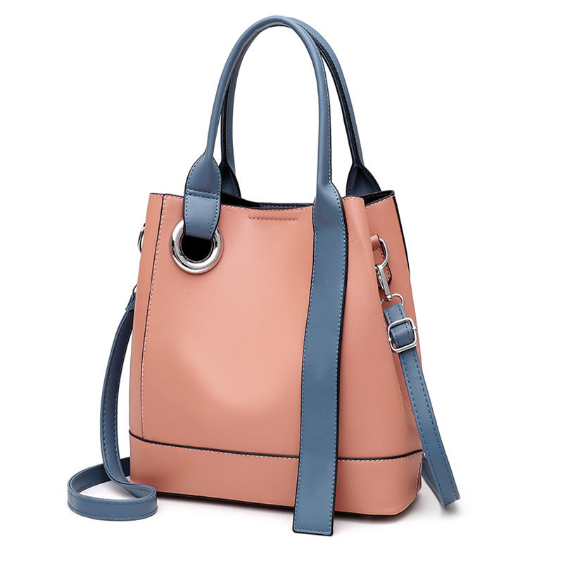 3 packs of 2020 new women's bags, stitching handbags & shoulder bags, bucket crossbody bags