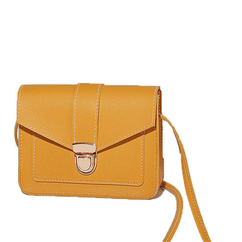 Fashion Small Cross body Bags for Women 2020 Mini PU Leather Shoulder bag Messenger Bag for Girl Yellow bag Ladies Phone Purse