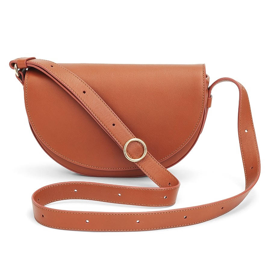 Fashion Leather Handbag Half-moon Mini Bag for Woman