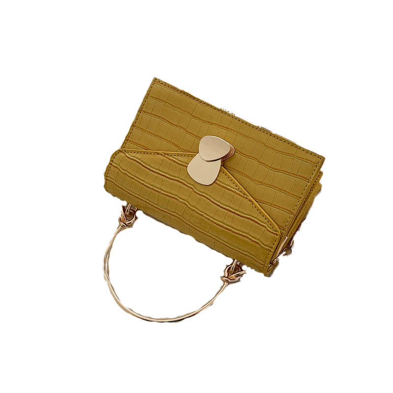 Stone Pattern PU Leather Crossbody Bags For Women 2020 Small Cross Body Bag With Metal Handle Lady Shoulder Bag Luxury Handbags