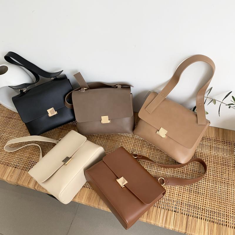 Casual Retro Women Shoulder Bags Designer Brand Strap Female Handbags Luxury Leather Cross-body Messenger Bag